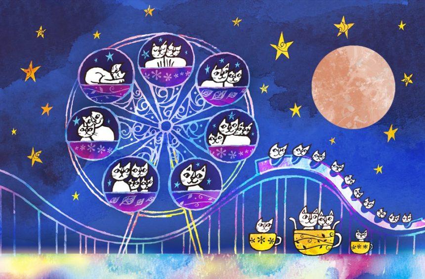 満月の遊園地