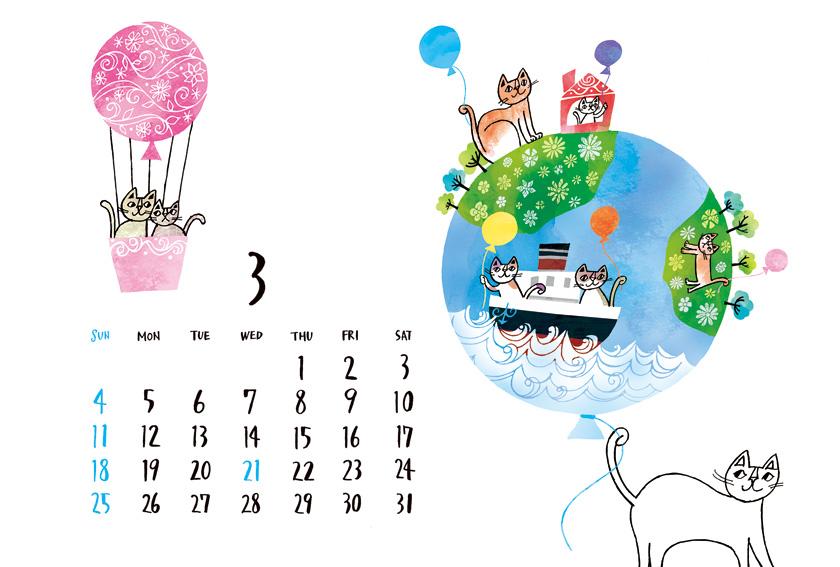 2018-3月カレンダー