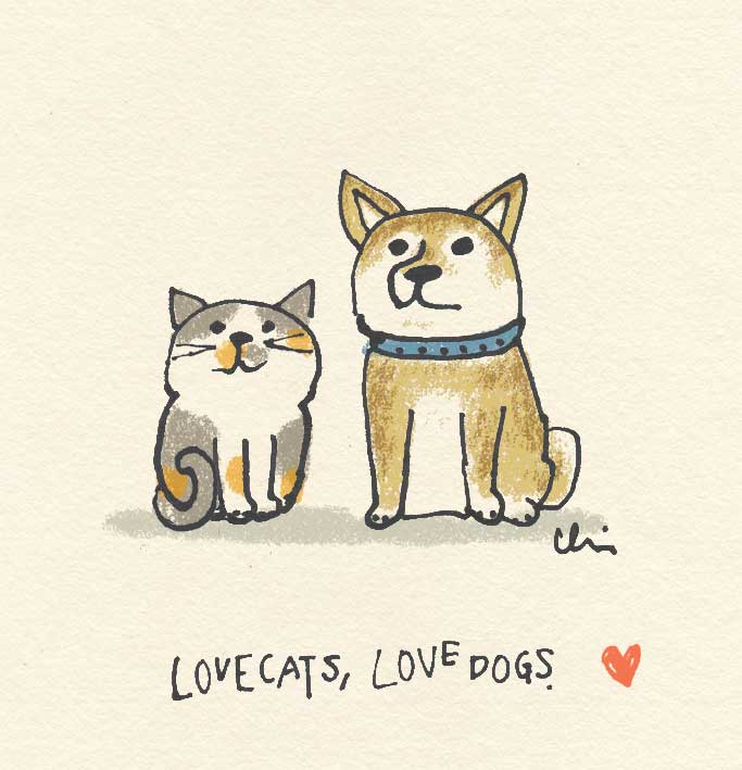 "シリーズ ""Love cats, Love dogs.""♡"