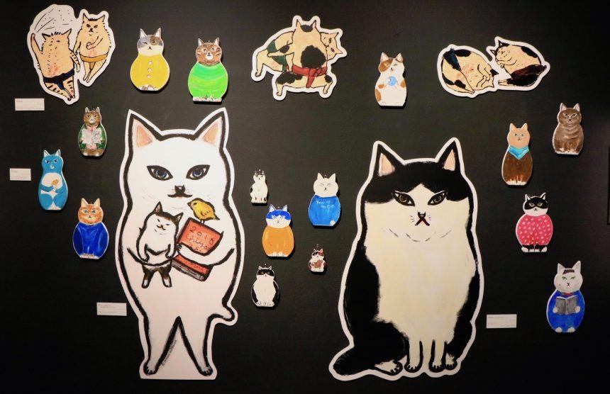 「木型猫」にご自分で好きな猫を描くオリジナルアート