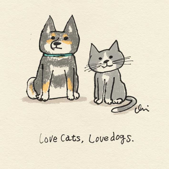 "シリ~ズ ""Love cats, love dogs."" =^_^=♡"