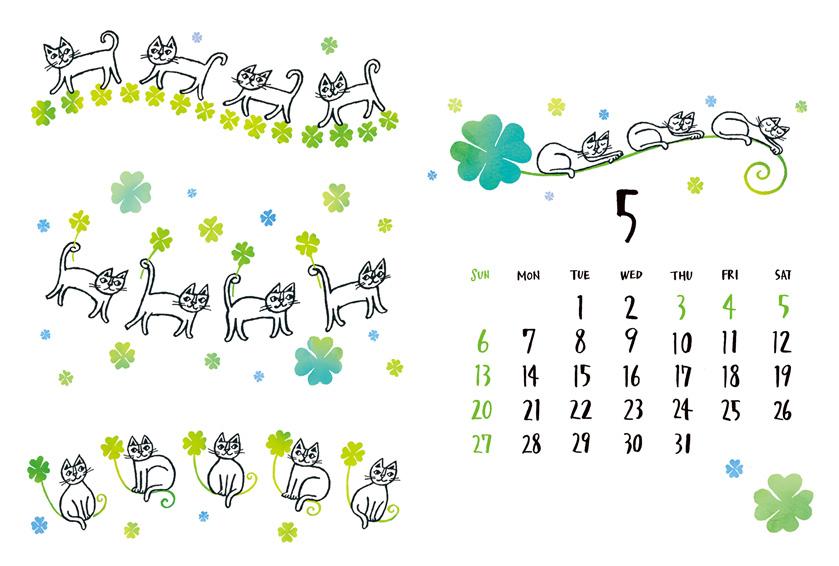 2018-5月カレンダー