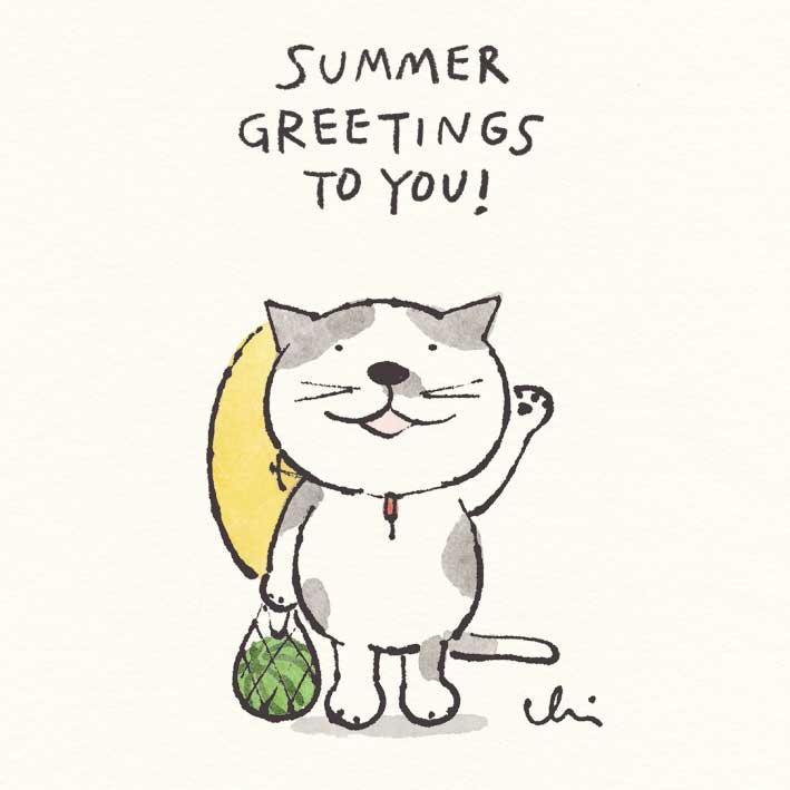 「夏休み、 また帰っておいで~=^_^=/」